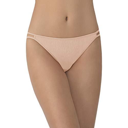 Vanity Fair Women's Illumination String Bikini Panties (Regular & Plus Size), Rose Beige, 5