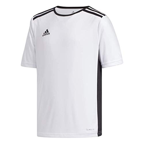 adidas Boys' Entrada 18 Jersey, White/Black, Large