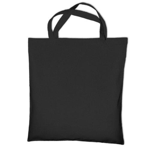 Jazz Bag Cedar - Sac de courses 100% coton (Taille unique) (Noir)