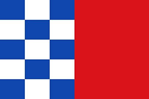 magFlags Bandera Large Rectangular de Proporciones 2 3, por Mitad Vertical   Bandera Paisaje   1.35m²   90x150cm