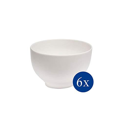 vivo by Villeroy & Boch Group - Basic White Schalen-Set, 6 tlg., 750 ml, Premium Porzellan, spülmaschinen-, mikrowellengeeignet, weiß
