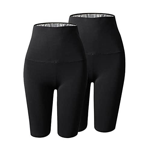 Amagogo Mujeres Sauna Pantalones Pérdida de Peso Cintura Trimmer Shorts Leggings Fitness Home Gym