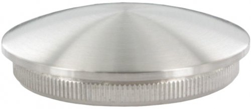Endkappe leicht gewölbt (dünn), massiv, für Rohr ø 33,7 x 2,6mm, zum Einschlagen