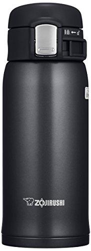 ZOJIRUSHI Termo Bebidas, Acero Inoxidable, Negro Brillo, 6.5x7x17.5 cm