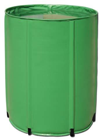Aquaking Barril de agua plegable de PVC, 380 L, depósito flexible, depósito de nutrientes, barril de lluvia