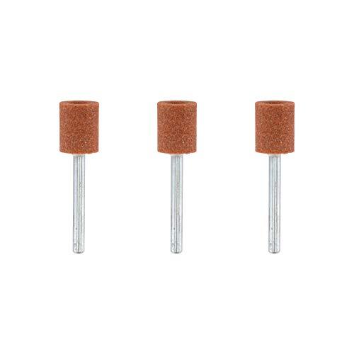 Dremel 932 Aluminium Oxide Grinding Stones Accessory Set, 3 Cylindrical Grinding Stones for Grinding and Sharpening Metals (9,5 mm)