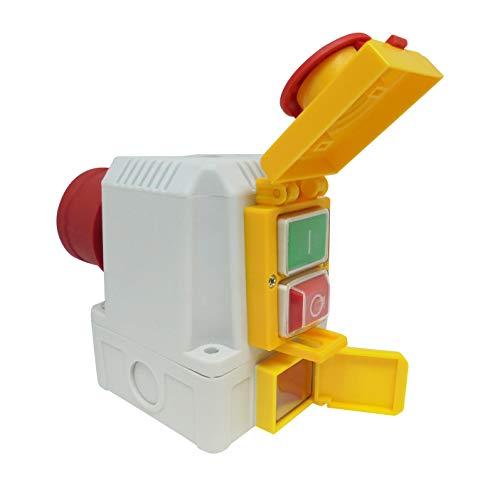 Anbauschalter DZ08-4 400V mit NotAus Klappe und Umschalter für Recht-/Linkslauf - Baugleich KEDU KOA2 YD