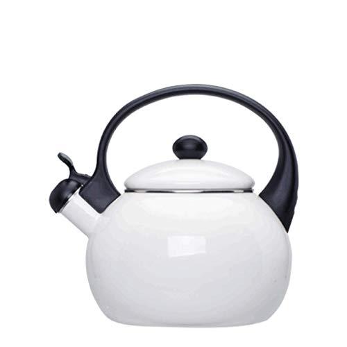 JXLBB En émail blanc émaillé japonais bouilloire épaississant sifflet balle appelé pot maison cuisinière à induction bouilloire bouilloire théière à gaz