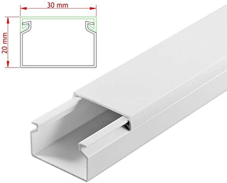 SCOS Smartcosat AVC-120 30m Kabelkanal Weiß Selbstklebend 30x 100cm 30x20mm Deckenkanal Besteehend aus Unterteil und Oberteil zur Montage direkt auf der Wand B07NLM6H1C | Up-to-date-styling