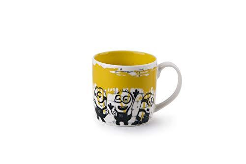 Excelsa Taza de porcelana con diseño de Minions, color amarillo, 280 ml