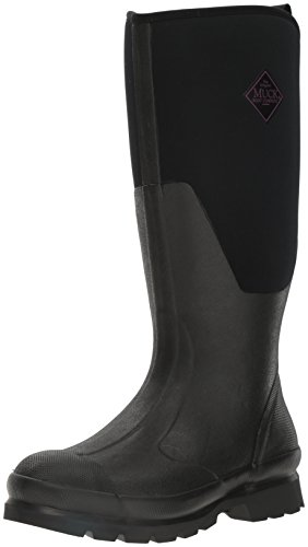 Muck Chore Rubber Women's Work Boots, Black, 7 B US