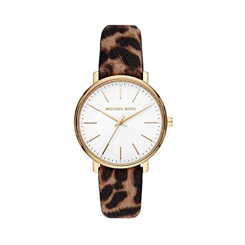 Michael Kors Reloj Analógico para De Las Mujeres de Cuarzo con Correa en Piel Genuina MK2928