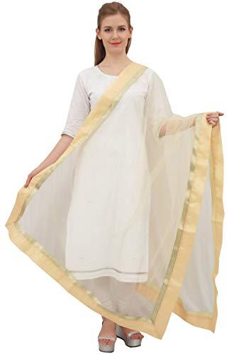 Phagun diseñador indio neto Dupatta larga estola de las mujeres Hijab bufanda Throw