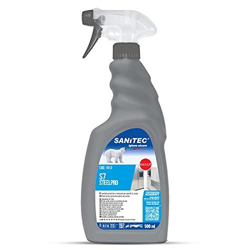 Scopri offerta per Sanitec Acciaio Vivo, Detergente Lucidante per Acciaio, Spray 500 ml