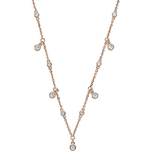 Emporio Armani EG3500221 Damen Collier SENTIMENTAL Silber 925 Rose Zirkonia 42cm