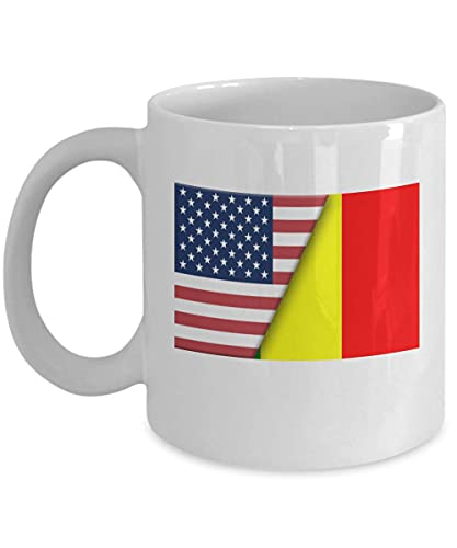 Kaffeetasse mit USA-Mali-Flagge, 325 ml, Weiß