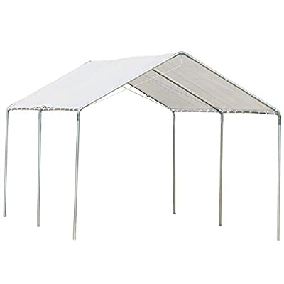 Outsunny 10' x 20' Heavy Duty Carport Canopy with Water/UV Fighting Material & a Simple Open Design