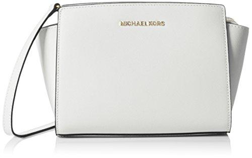 Michael Kors Selma Medium Messenger, Bolso Bandolera para Mujer, Negro (Black), 10.9x17x29.2...