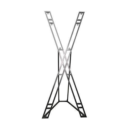 Andreaskreuz BDSM Kreuz mit Standfuss/aus Metall pulverbeschichtet/zerlegbar in 10 Teile/Höhe: 229 cm/Gewicht: 24 kg/Farbe: grau