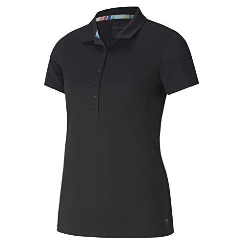 PUMA W Rotation Polo Camiseta, Mujer, Black, S