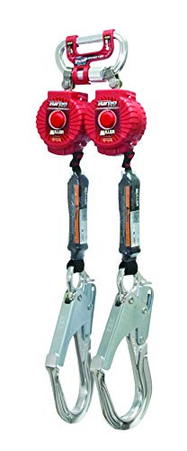 Miller Twin Turbo 6-Foot Fall Protection System with G2 Connector and Aluminum Locking Rebar Hooks (MFLC-12-Z7/6FT)