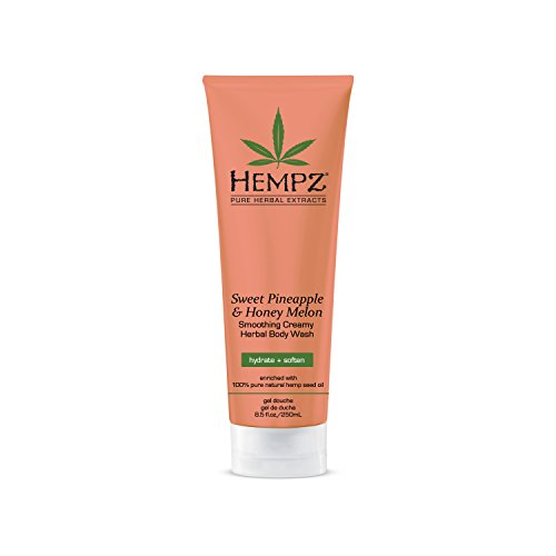 Hempz Herbal Body Wash for Women Sweet Pineapple amp Honey Melon 85 fl oz  Creamy Hydrating Body Wash with 100% Pure Hemp Seed Oil Shea Butter Vitamins A amp E  Premium Shower and Bath Products