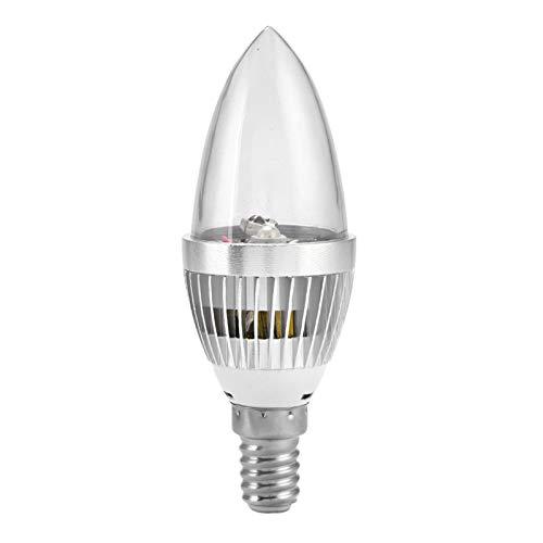 Weohoviy Bombillas De Luz LED De Vela, E14 / E12 3W RGB LED Bombilla De Luz De Vela Que Cambia De Color con Kit De Control Remoto Tornillo En Bombilla(Tapa Transparente E14)