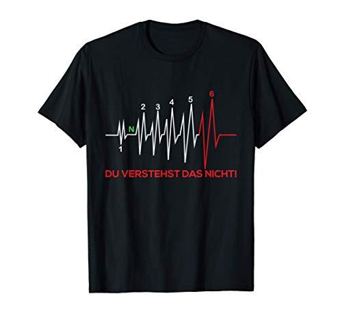 Motorrad Herzschlag Motorradhelm Erste Hilfe Handyhalterung T-Shirt