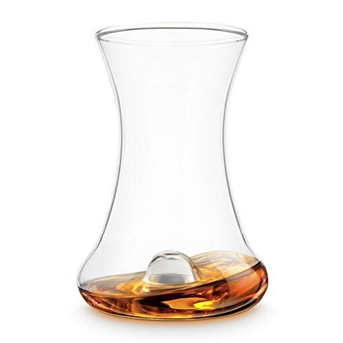 Final Touch RumTaster Glas zur Rumprobe, geschwungenes Glas für feine Rum-Sorten GR500