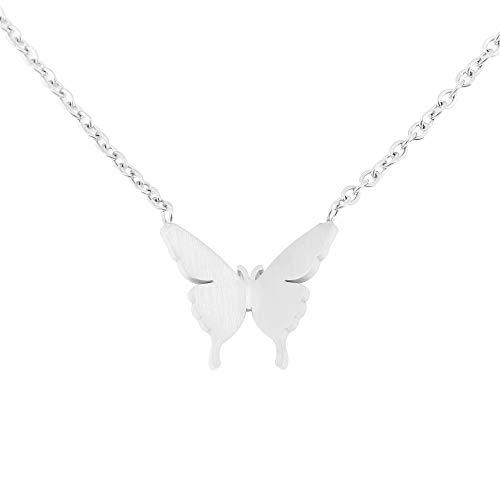 Collar de Mariposa Delicada para niñas Adolescentes, Collar Colgante de Mariposa Chapado en Oro de...