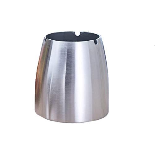 XXT Cenicero con cáscara Cortavientos Creativo de Acero Inoxidable (Color : Glossy, Size : 12.5cm)