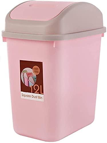 DZCGTP Juego Combinado de Bote de Basura Cubo de Reciclaje de residuos Bote de Basura de plástico Bote de Basura Rectangular abatible para el hogar Escuela Aeropuerto Hotel Papelera 12L