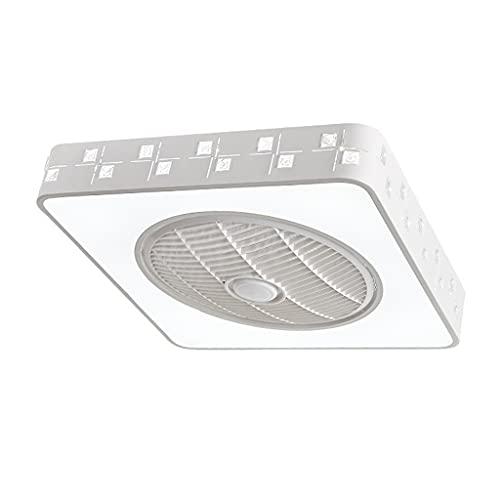 Ventilador de techo de perfil bajo con luz, semi al ras de monte PERFIL BAJO FAN, pantalla hueca, control remoto LED completamente, velocidad de viento ajustable y brillo ajustable, para baño interior