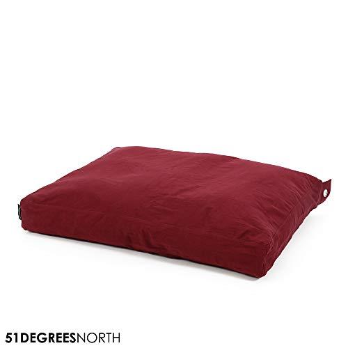 51 Degrees North Cotton Cuscino per Cani Box Pillow, Blu Breeze Blue, Letto per Cani di Piccola e Grande Taglia e Gatti, Cuscino per Cani Lavabile
