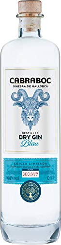 Cabraboc Dry Gin Blau 0,7L - Mallorca Spanien - 44% vol - ideal für Gin Tonic und andere Gin Cocktails