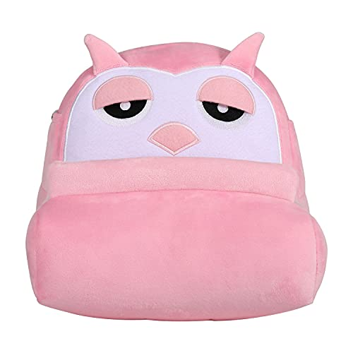 MoKo Owl Book Stand Cushion Tablet Holder Home Rest Travelling Reading Soft Pillow Holder Bed Desk Sofa Cushion Pillow Stand Support Books Tablets iPad Kindles E-Readers, Pink & White