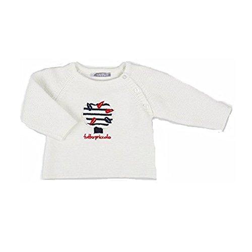 Tutto Piccolo - Sweat-Shirt - Bébé (Fille) 0 à 24 Mois Blanc cassé Ecru - Blanc cassé - 12 Mois
