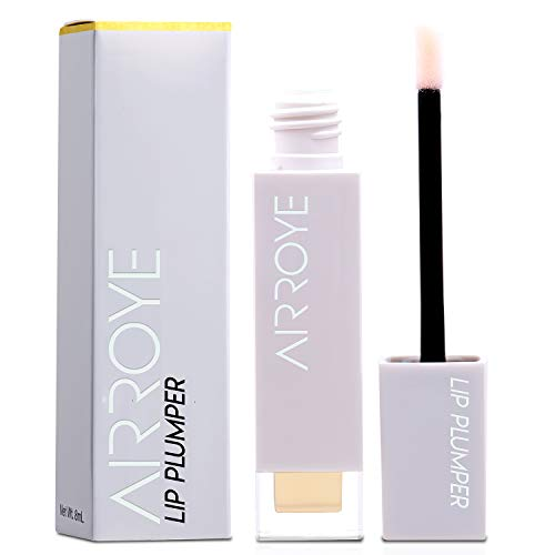 Lip Plumper, 3D Natural Collagen Lip Enhancer, Hydrating Plump Gloss to Maximize, for Fuller Softer Lips Increased Elasticity Reduce Fine Lines 8ml
