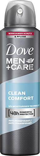Dove Men+Care Deospray Clean Comfort Anti-Transpirant, 1 x 150 ml
