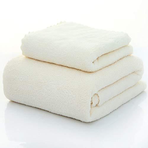 langchao Towel Bath Towel 2 Piece Coral Velvet Microfiber Towel