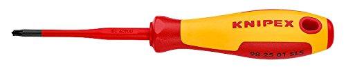 KNIPEX Schraubendreher (Slim) PlusMinus Pozidriv 1000V-isoliert (187 mm) 98 25 01 SLS