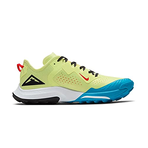 Nike W Air Zoom Terra Kiger 7, Zapatillas para Correr Mujer, Limelight Off Noir Laser Blue Dk Sulfur Chile Red, 36 EU