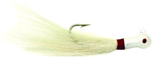 Sea Striker PE34W6 Popeye Bucktail Jigs, 3/4-Ounce, 7/0 Hook, White, 6-Pack