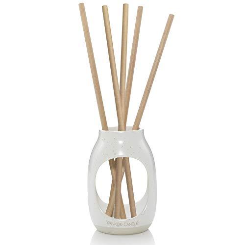 YANKEE CANDLE Kit per Diffusore di Aroma, Contenitore Decorativo e 5 Bastoncini Profumati, Asciugamani Morbidi, Fluffy Towels, Reed Refill