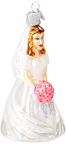 Old World Christmas Glass Blown Ornament Bride-Brunette (10226)