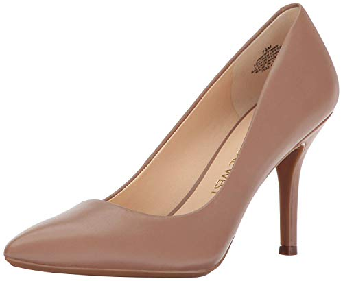 NINE WEST Women's NWFIFTH9X9 Pump, Light Natural251, 8.5