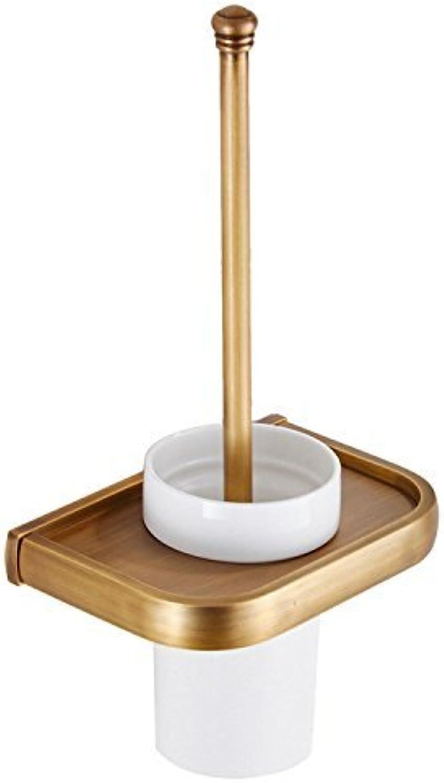 XIAOL Home Toilettenbürste Und Halter Bad Anhnger Messing Toilettenbürste Antike Toilettenbürste Reinigungsbürstenhalter WC-Getrnk