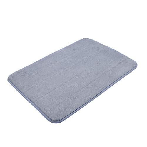 Scrolor Teppichboden Teppiche Area Rugs Memory Foam Carpet Bad Schlafzimmer Boden rutschfeste Dusche Teppiche Fußmatte(Grau,40x60cm)