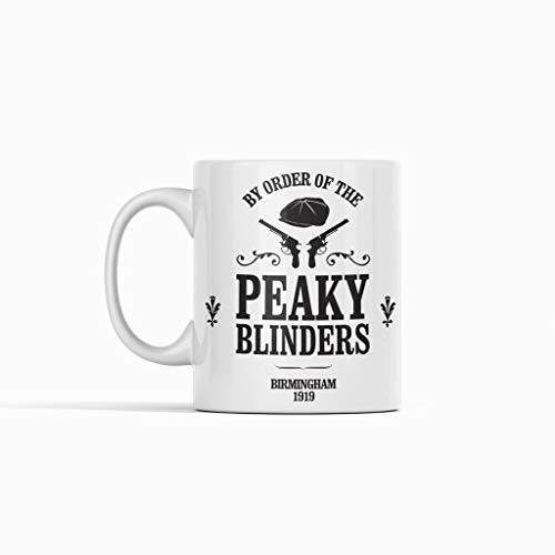 Taza inspirada en Peaky Blinders de alta calidad, de 325 ml, color blanco