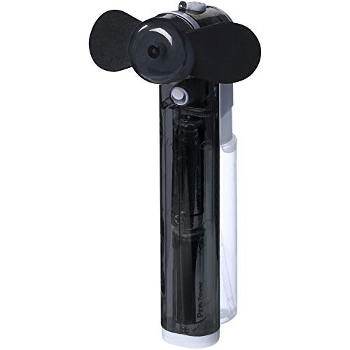 Tragbarer Wassersprüh Handventilator Schwarz inkl. Batterien Wasser Sprühnebel Sprühventilator Mini Hand Wassersprüher Ventilator Wasserzerstäuber